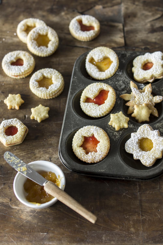 Linzer Kekse - Rezept mit Mürbteig
