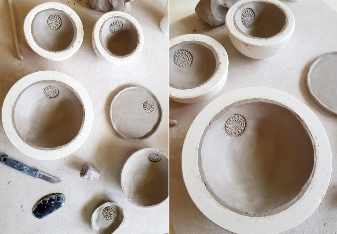 Schüsseln und Schalen töpfern ohne Töpferscheibe | Gipsschalen DIY
