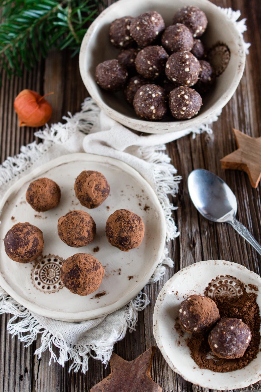 Schnelle Weihnachtsrezepte: Lebkuchen-Trüffel #gesundbacken