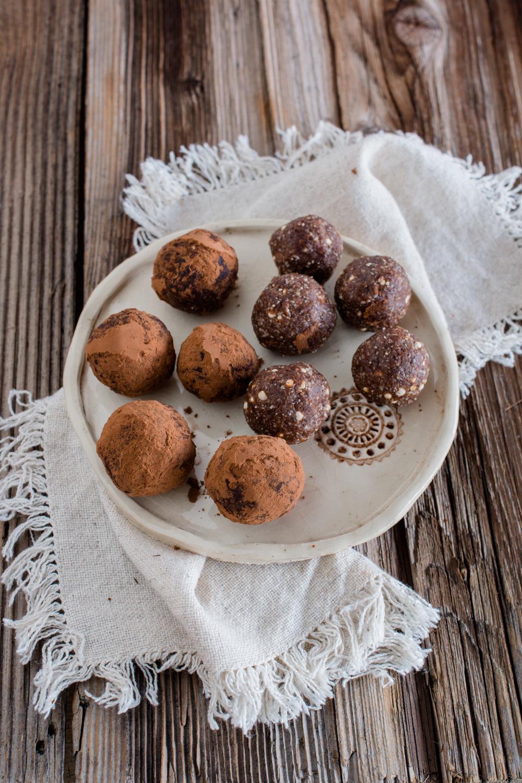Schnelle Trüffel ohne raffinierten Zucker: Lebkuchen-Trüffel