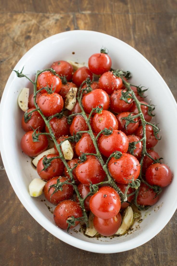 Cocktail-Tomaten im Ofen rösen: richtig lecker, mediterran und schnell #schnellerezepte