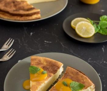 Schneller Ricottakuchen mit Zitronen | Low Carb Kuchenrezept #ricottakuchen