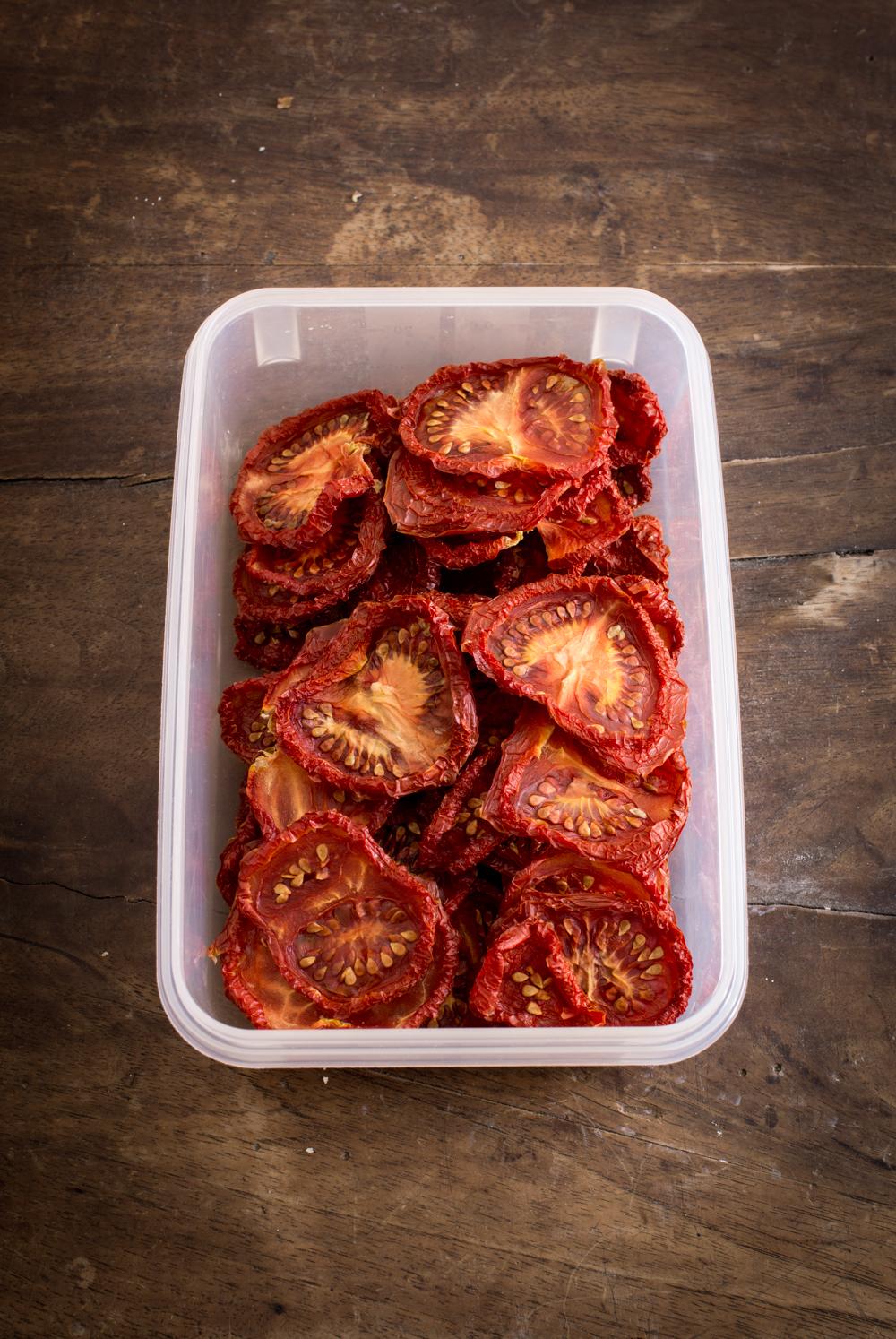 Gedörrte Tomaten - Tomaten selber trocknen, Einfache Anleitung