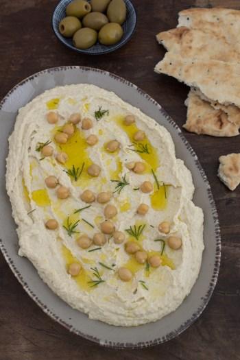 Hummus aus getrockneten Kichererbsen machen - Grundrezept