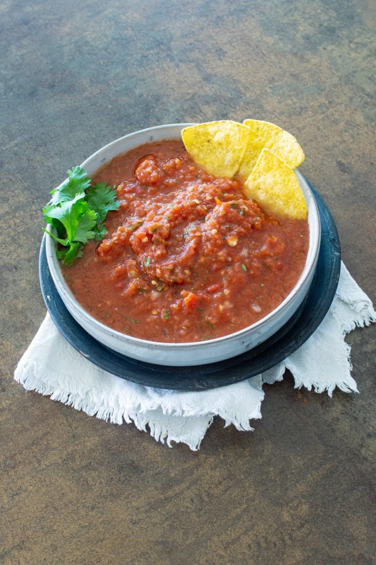 Milde Salsa ohne Chili - einfaches Rezept