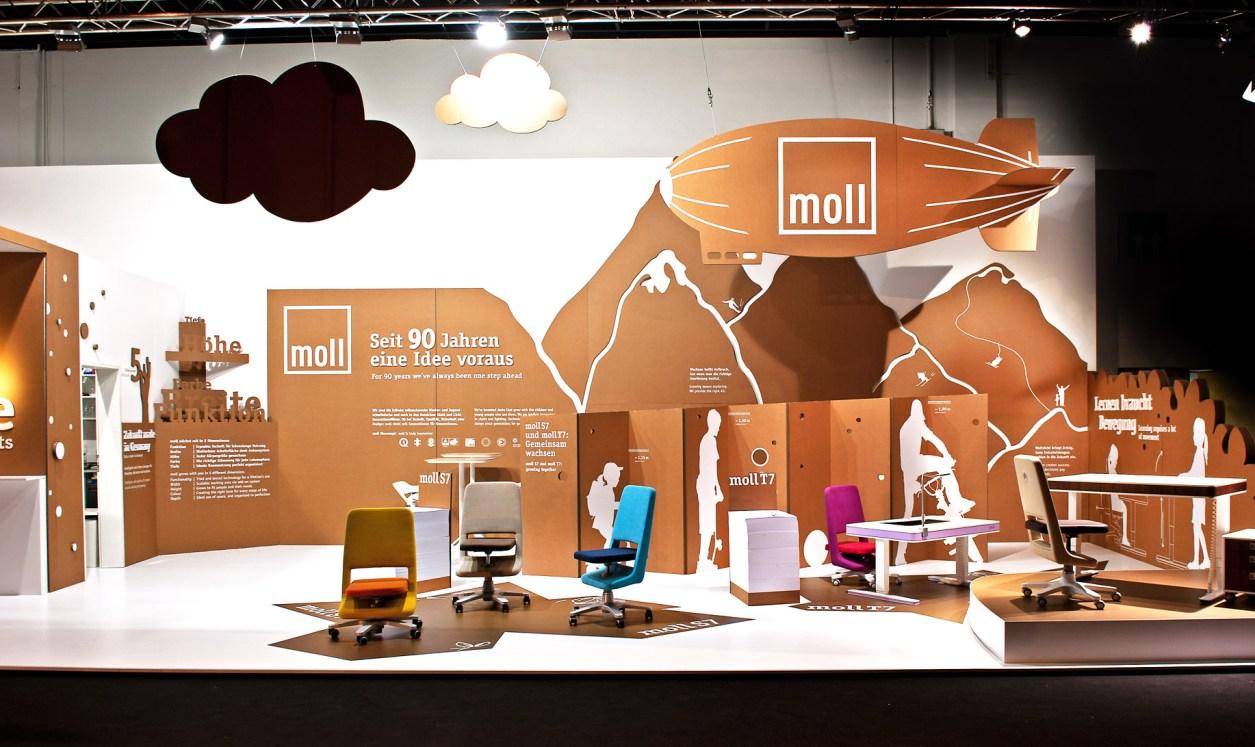 Wow, wie schön: So sah der Moll-Stand auf der vergangenen imm Cologne aus.