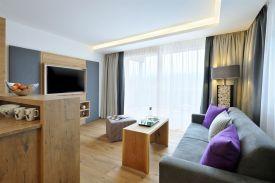 Wohnzimmer im Sunnsait-Appartement