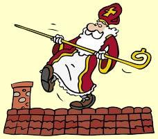 Afbeeldingsresultaat voor sinterklaas op het dak tekening