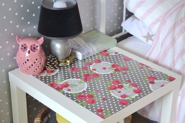 tafel met plakfolie