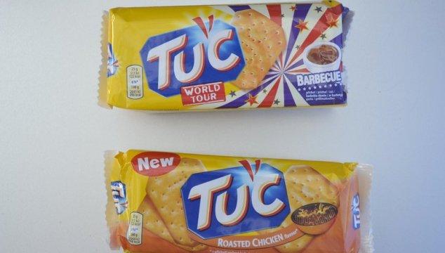 Nieuwe Tuc smaken proeven (BBQ & Roasted Chicken)