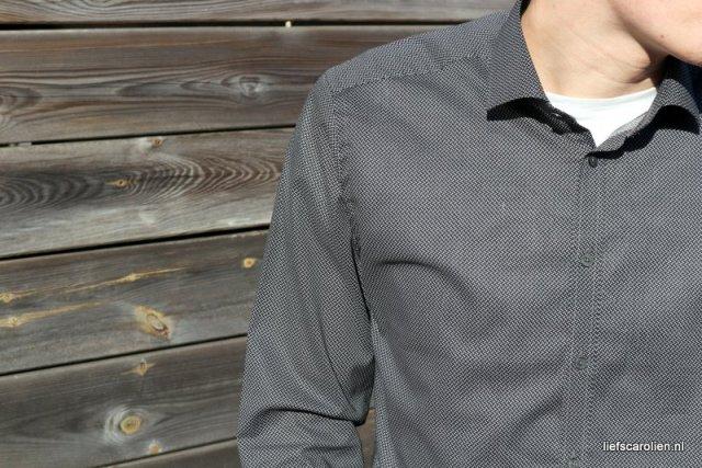 Overhemd met stippen