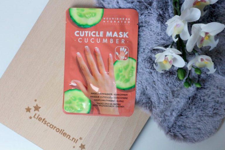 nagelriem masker met komkommer