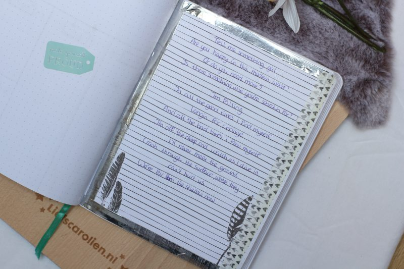 inspiratie pagina, bullet journal, plan with me