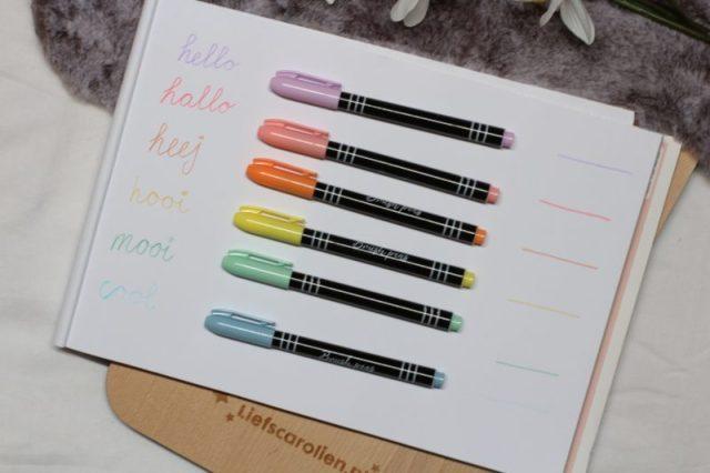 bursh pens, brush pens action, penseelstiften