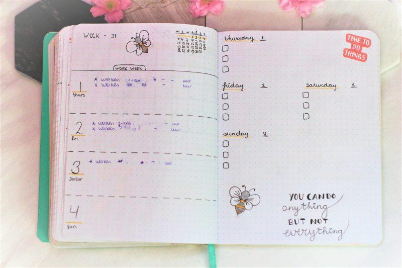 weekplanning augustus 2019