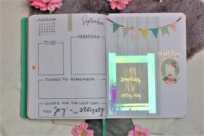 laatste pagina weekplanning september