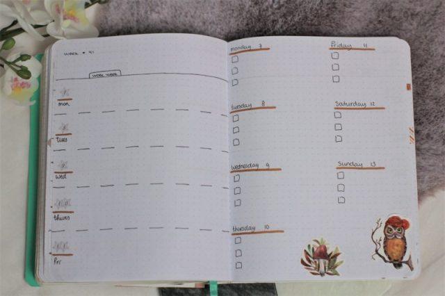 weekplanning oktober 2019