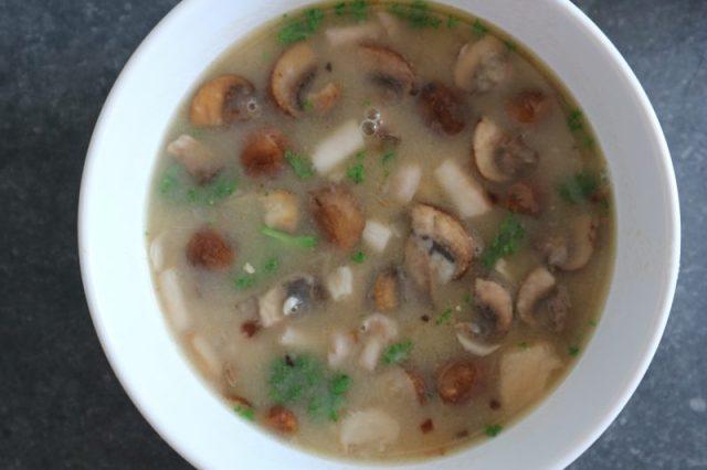 paddenstoelen soep