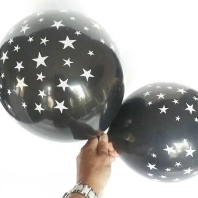 ballonnen zwart met witte sterren