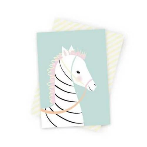 Kinderkamerdecoratie poster zebra