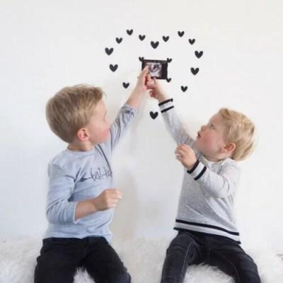 Mooie foto met echo en kinderen