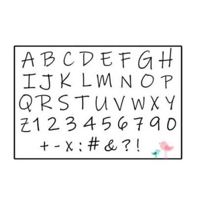 Muurstickers cijfers en letters