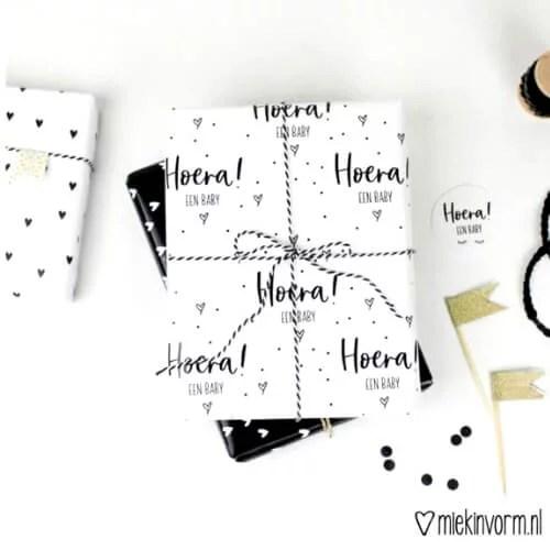 Zwart wit inpakpapier