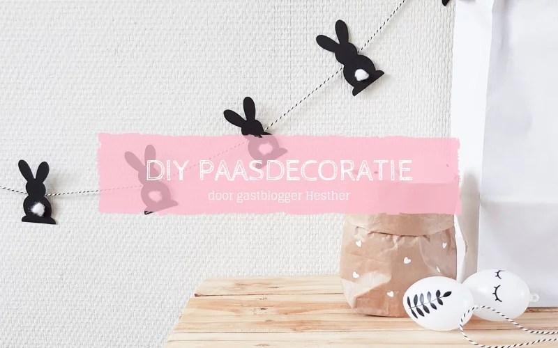 DIY Paasdecoratie zwart wit