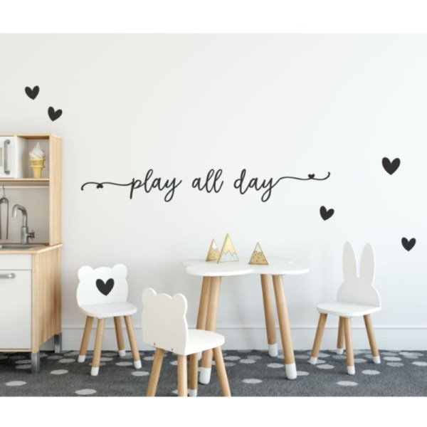Play all day muursticker speelhoek
