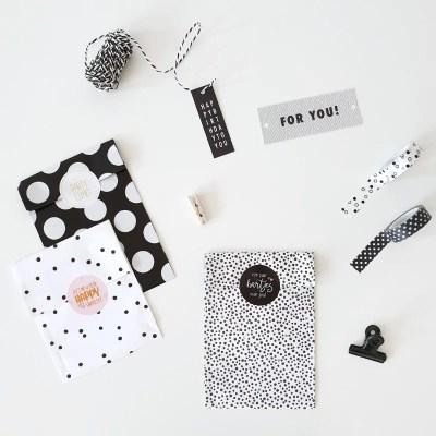 Cadeauzakjes zwart wit