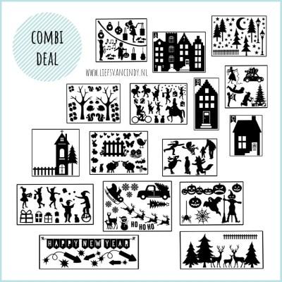 Raamstraatje Sinterklaas en kerst pakket