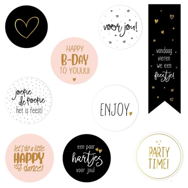 Stickers sluitzegels cadeautjes