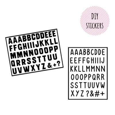 Losse letterstickers