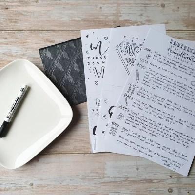 DIY pakket porselein letteren