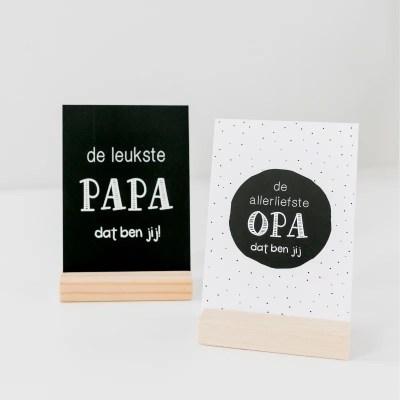 Kaart voor cadeau opa en papa