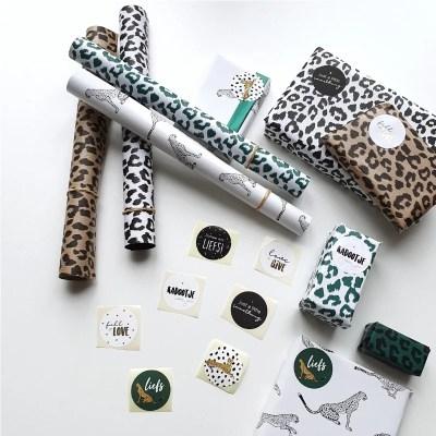 Inpakpapier dierenprint