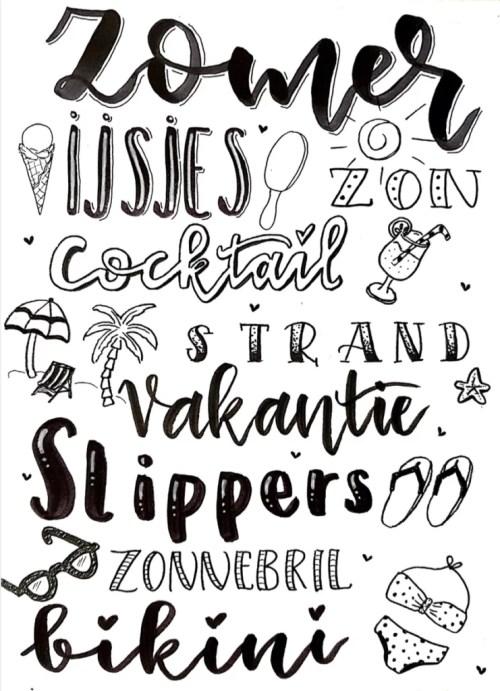 Zomer poster free printable