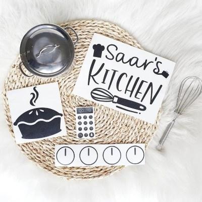 Ikea keukentje pimpen stickers