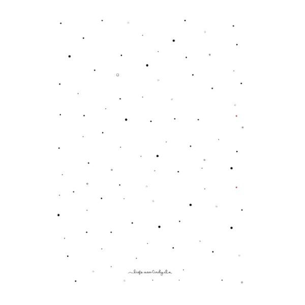 Bewaarmap tekeningen en knutsels zwart wit