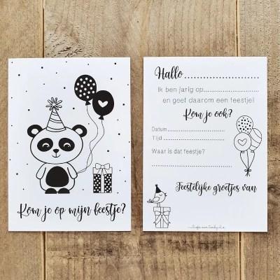 Uitnodiging Panda feestje