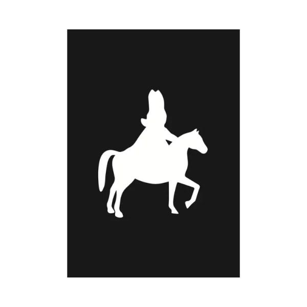 Sinterklaas op paard kaart