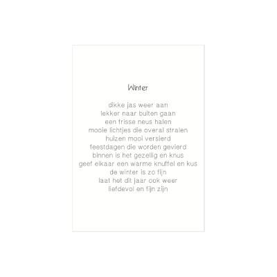 cadeaukaartjes winter gedicht