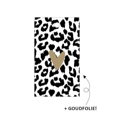 Cadeaulabel panterprint
