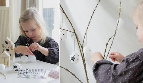 zelf paasdecoratie knutselen met kinderen