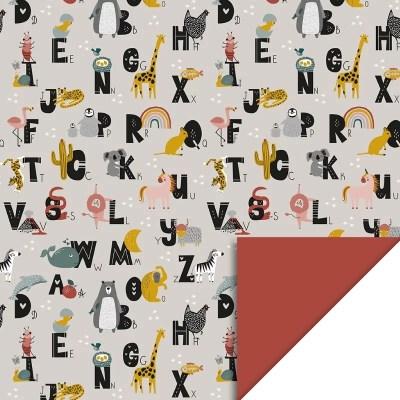 Cadeaupapier alfabet dieren