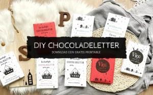 Sinterklaas printable chocoladeletter