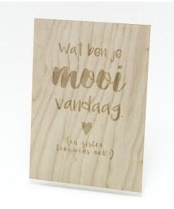 Wat ben je mooi vandaag, Beavers Woodland, resthout -liefsvanlauren.nl