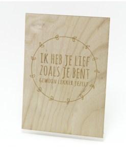 Ik heb je lief zoals je bent, Beavers Woodland, liefsvanlauren.nl