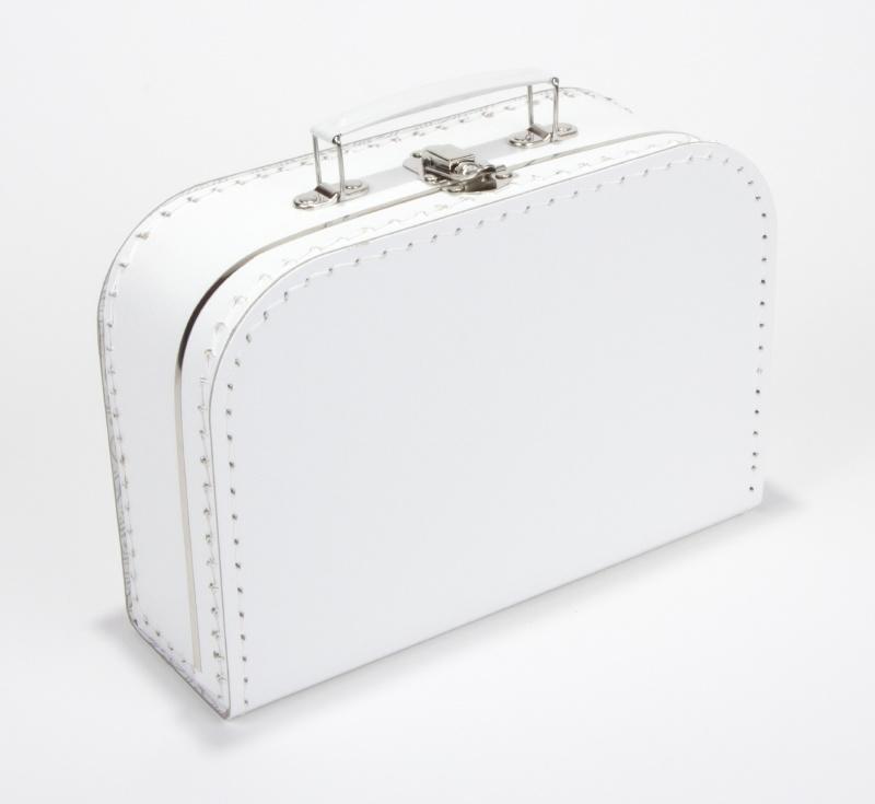 Kinderkoffertje wit, met bedrukking