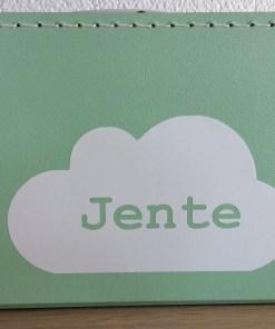 naam in wolk, kinderkoffertje